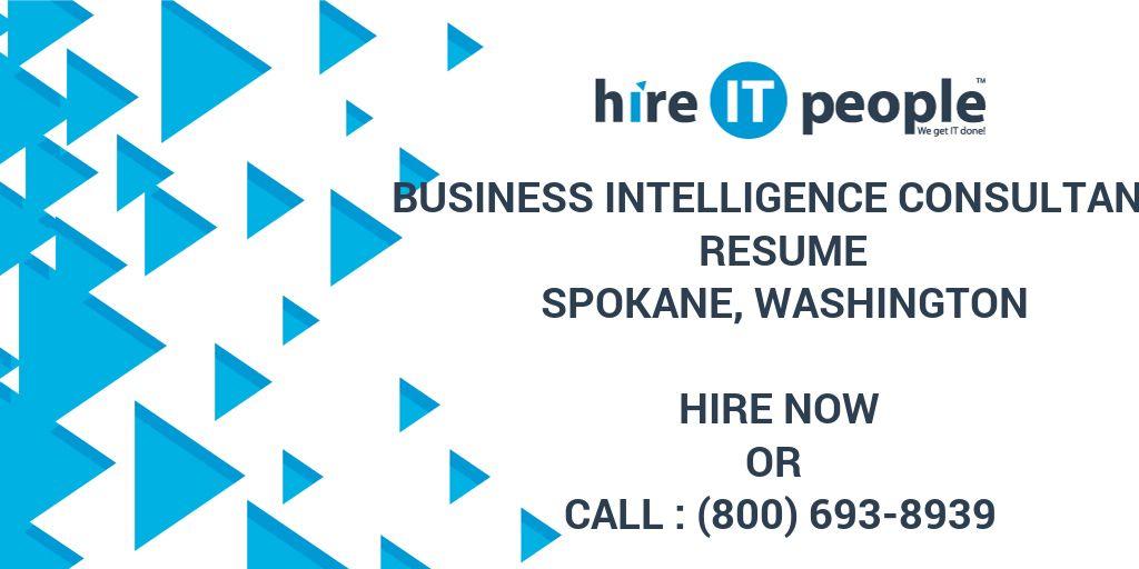 Business Intelligence Consultant Resume Spokane, Washington - Hire