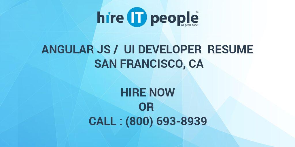 Angular Js / UI Developer Resume San Francisco, CA
