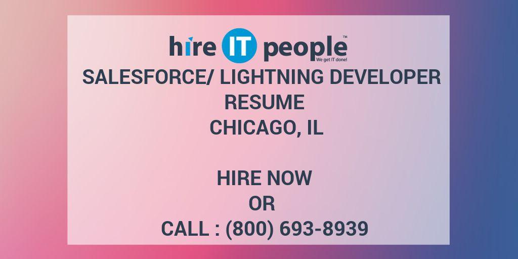 Salesforce/Lightning Developer Resume Chicago, IL - Hire IT People ...