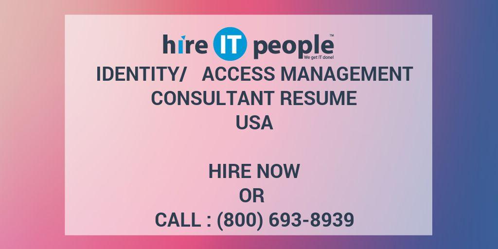 identity   access management consultant resume