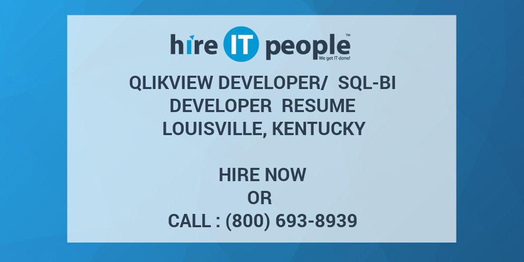 QlikView Developer/ SQL-BI developer Resume Louisville
