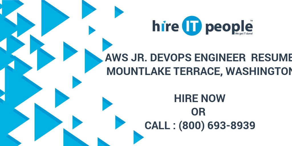 aws jr  devops engineer resume mountlake terrace