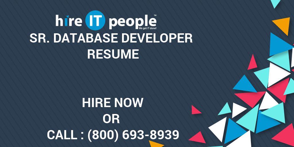 sr  database developer resume - hire it people