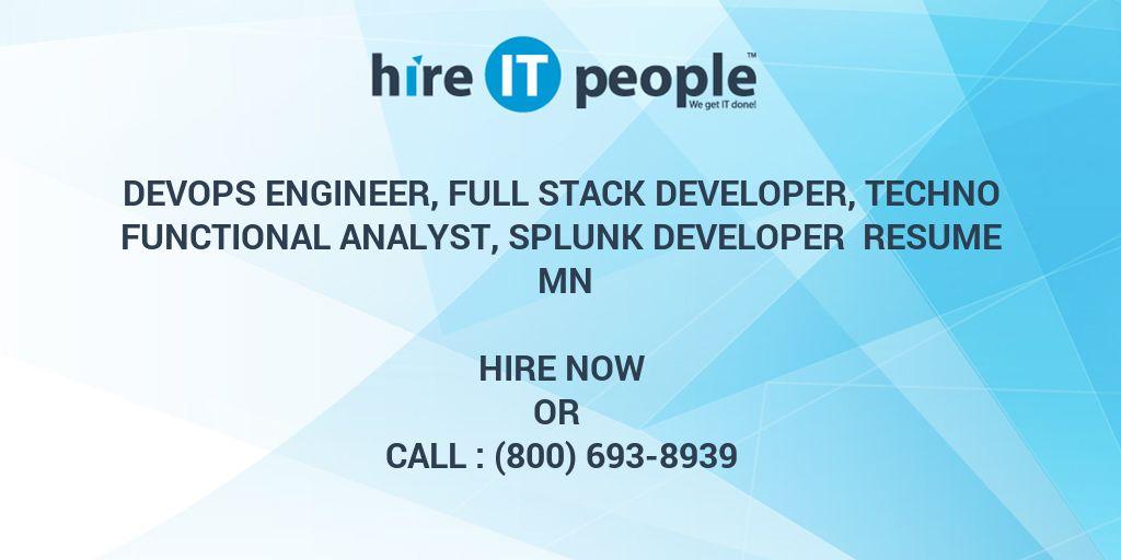DevOps Engineer, Full Stack Developer, Techno Functional