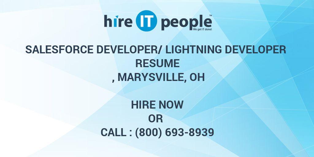 Salesforce Developer/Lightning Developer Resume , Marysville