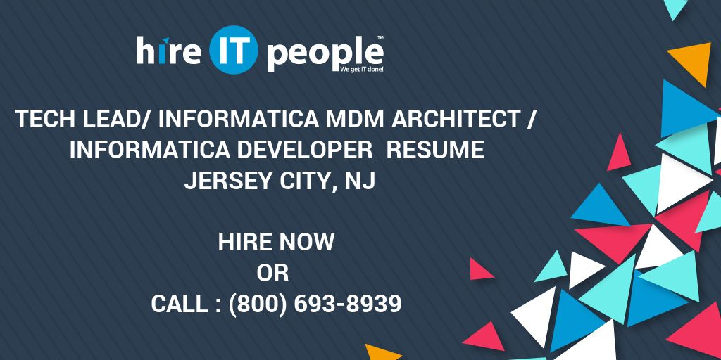 Tech Lead Informatica MDM Architect Developer Resume Jersey City NJ