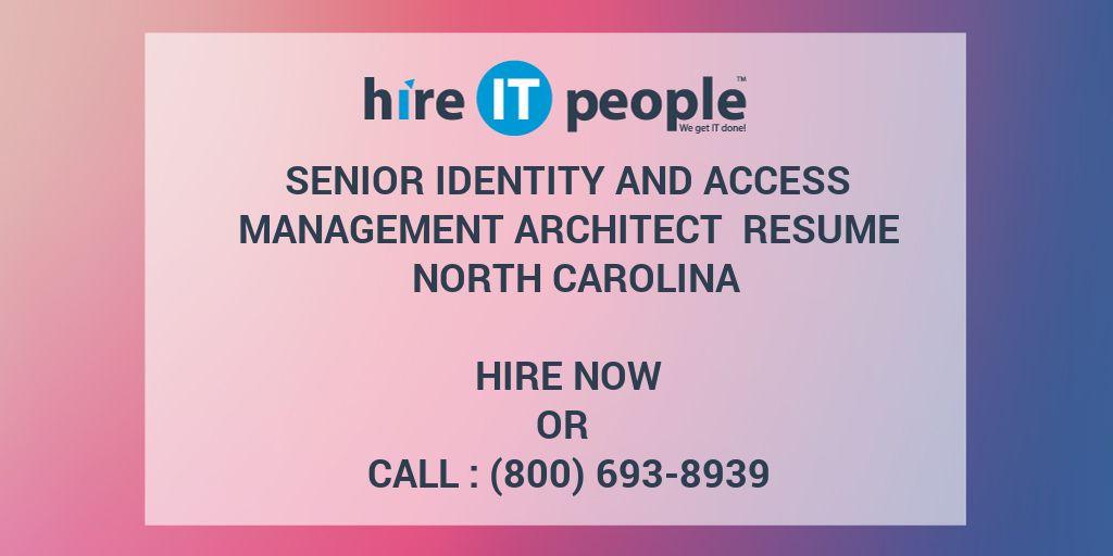 Senior Identity and Access Management Architect Resume North