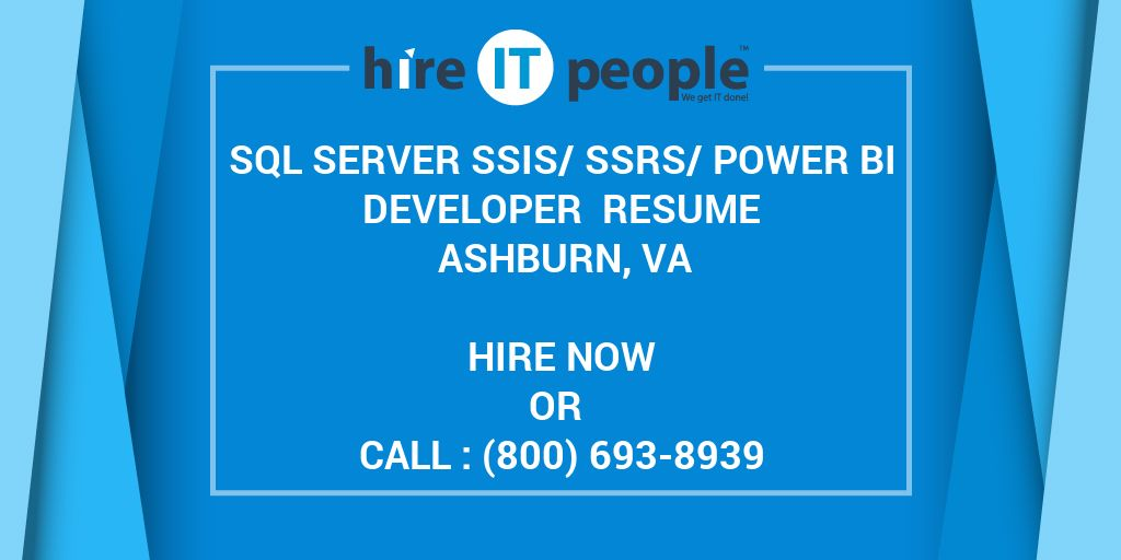 SQL Server SSIS SSRS Power BI Developer Resume Ashburn VA