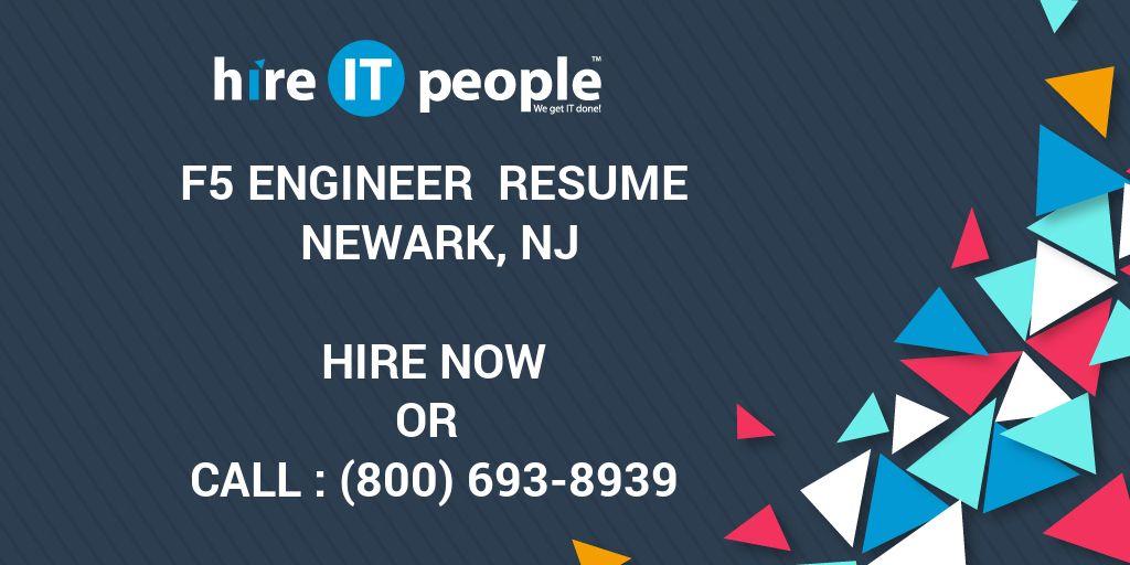 F5 Engineer Resume Newark, NJ - Hire IT People - We get IT done