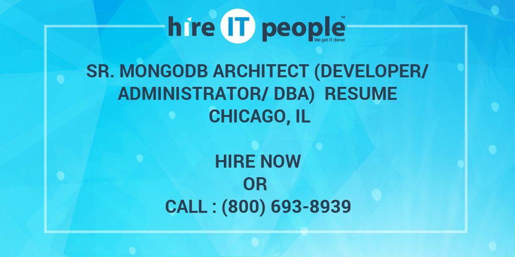 Sr Mongodb Architect Developer Administrator Dba Resume