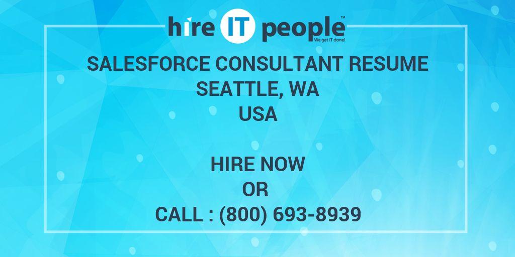 salesforce consultant resume seattle  wa