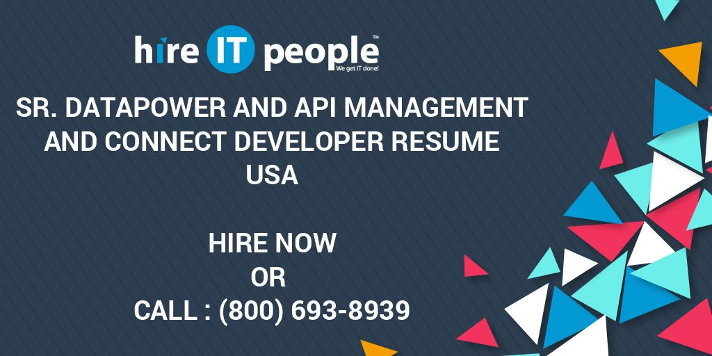 Sr  Datapower and API Management and Connect Developer