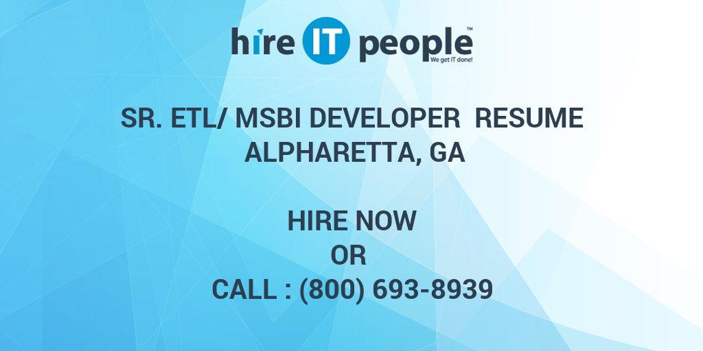 sr  etl  msbi developer resume alpharetta  ga