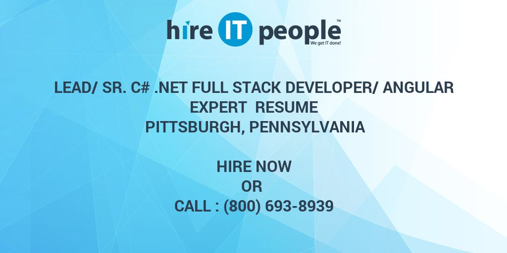 Lead/Sr  C#  NET Full Stack Developer/Angular Expert Resume
