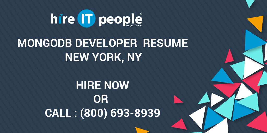 MongoDB Developer Resume New York NY