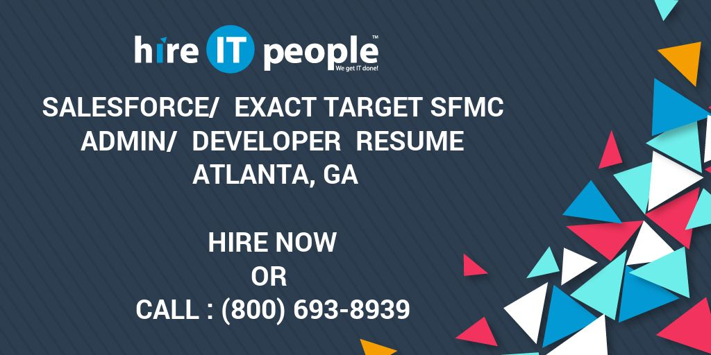 salesforce   exact target sfmc admin   developer resume