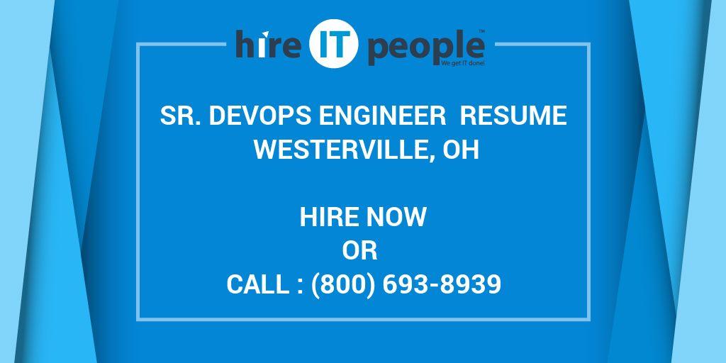Sr  DevOps Engineer Resume Westerville, OH - Hire IT People