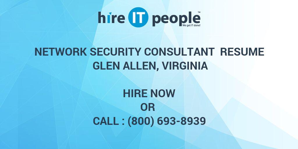 Network Security Consultant Resume Glen Allen, Virginia