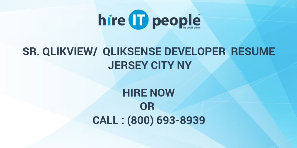 sr  qlikview   qliksense developer resume jersey city ny