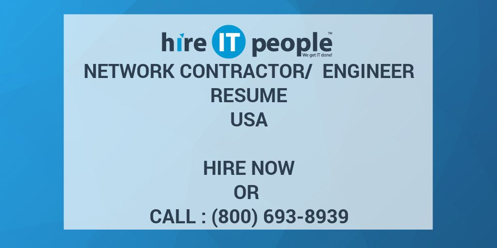 Network Contractor Engineer Resume Hire It People We Get Done Jpg 1024x512 Avaya