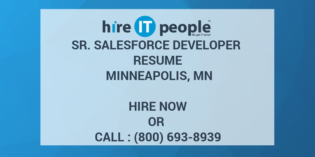 salesforce developer resume