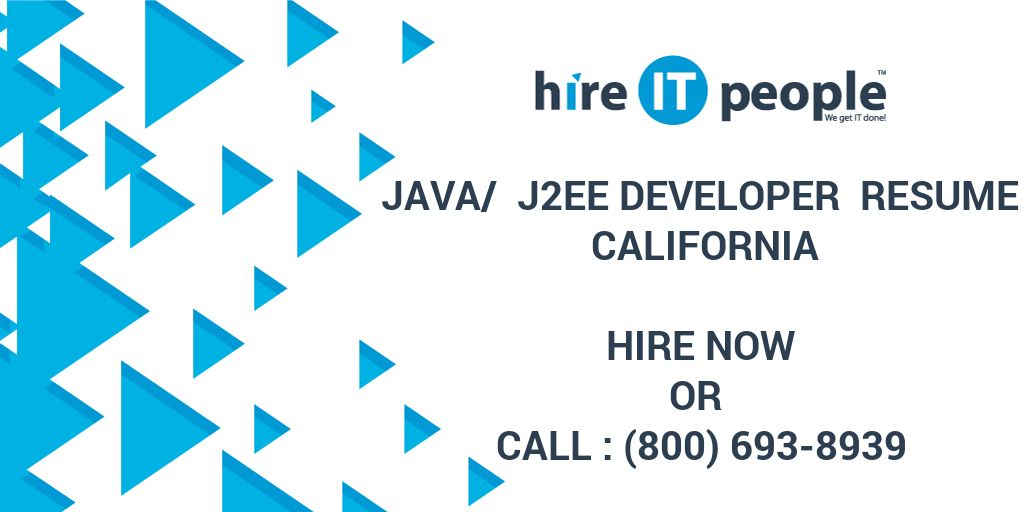 Java J2EE Developer Resume California