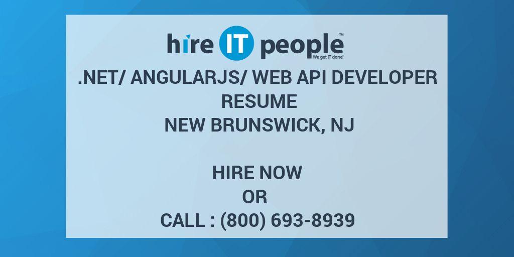 NetAngularJSWeb API Developer